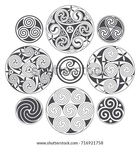 vector celtic spiral design for