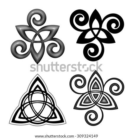 vector celtic triskel symbols
