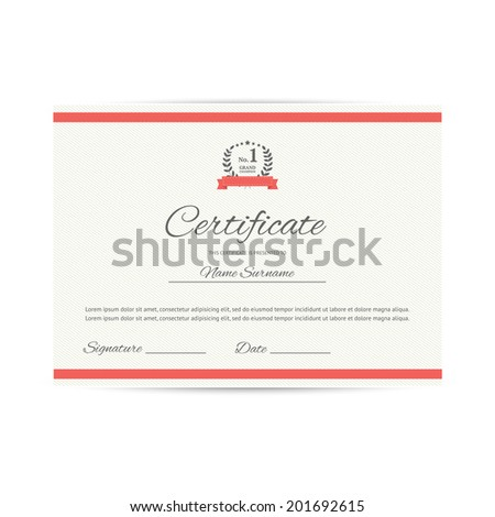 Vector certificate design template