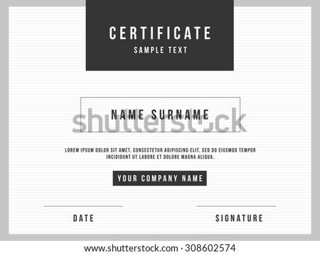 Modern certificate vectors download free vector art stock vector certificate minimalism template design yadclub Choice Image