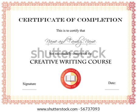 Vector: Certificate of Completion Template