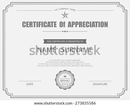 Elegant appreciation certificate template design download free vector certificate template yadclub Gallery