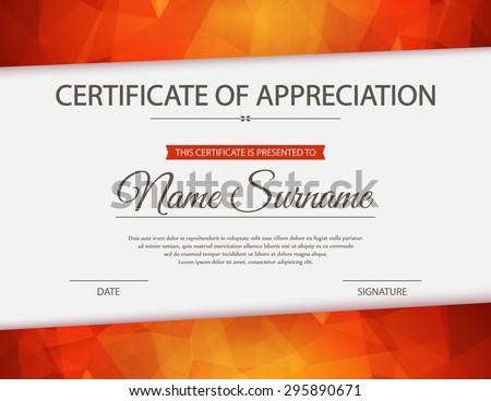 Vector certificate template. #295890671