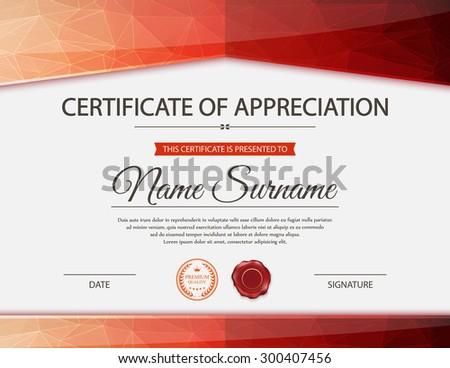 Vector certificate template. #300407456