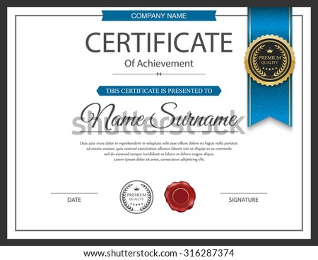 Horizontal Certificate Template Design Download Free Vector Art