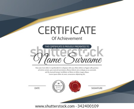 Vector certificate template. #342400109