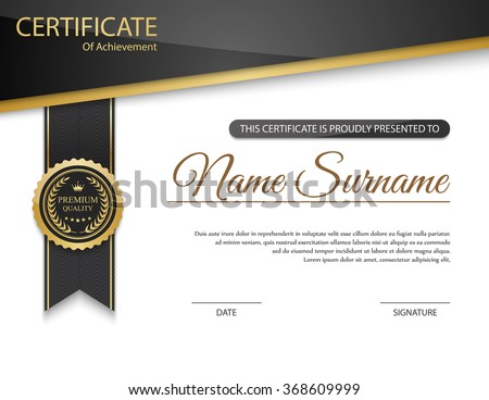 Vector Images Illustrations and Cliparts Vector certificate – Certificate Template