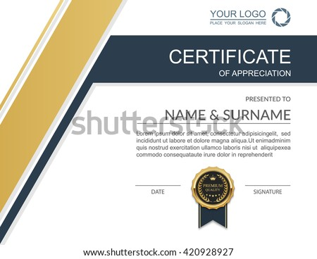 Certificate Vector Template - Download Free Vector Art, Stock