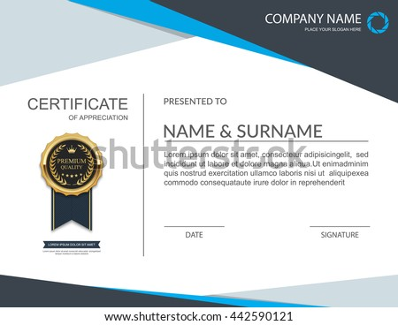 Free certificate template vector download free vector art stock vector certificate template yelopaper Images