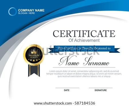 Certificate Template Graphics - Download Free Vector Art, Stock ...