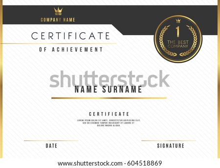 Modern Premium Certificate Award Design Template  Download Free