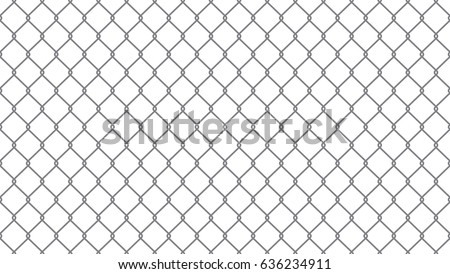Vector Chain link fence. Seamless pattern.