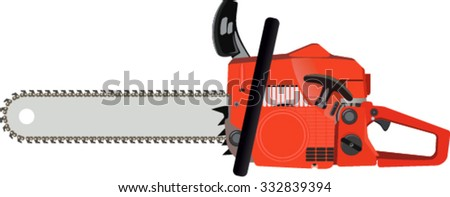 vector chainsaw isolated