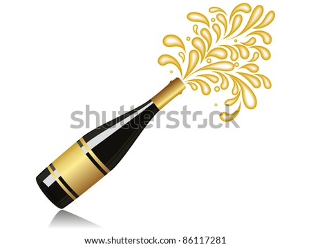 vector Champagne explosion for new year & other celebration
