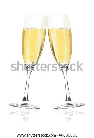 champagne glasses clipart. vector champagne glasses