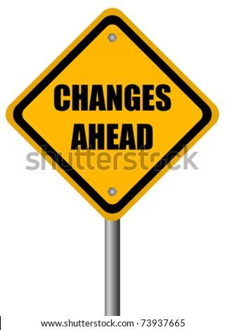 Vector changes ahead vector sign