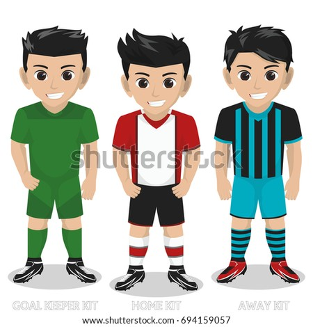 vector character football