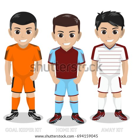vector character football