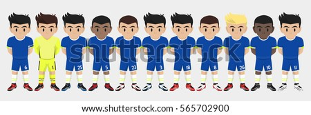 vector character football team