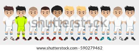 vector character football team