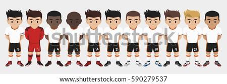 Vector Character Football Team #590279537