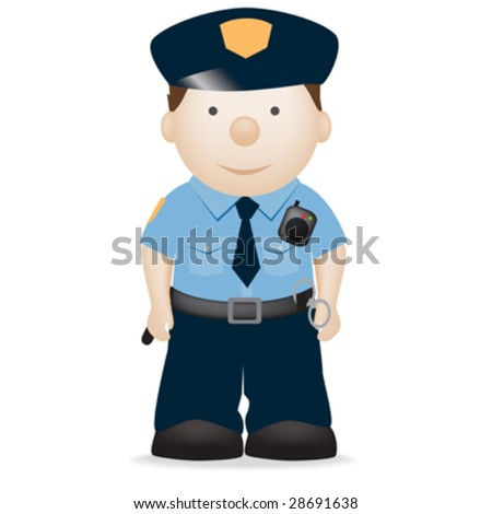 vector character illustration of an american police officer