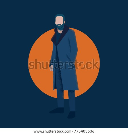 vector character man template