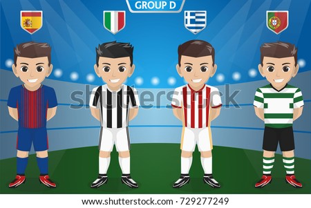 vector character of football