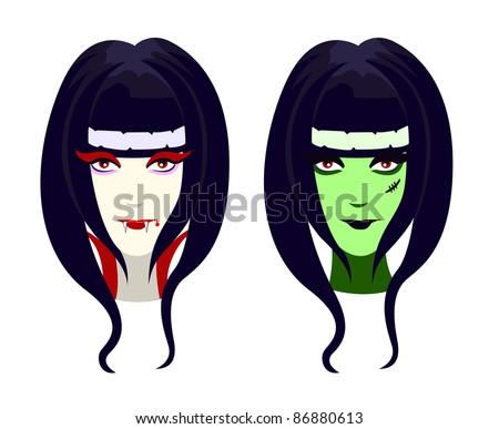 vector characters for halloween