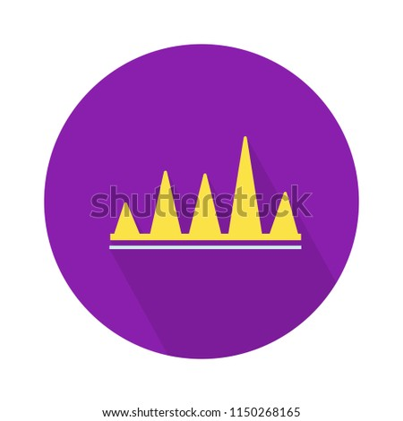 vector chart finance curve illustration - business report. statistics icon