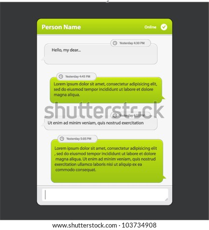 Vector chat frames: message boxes for your text