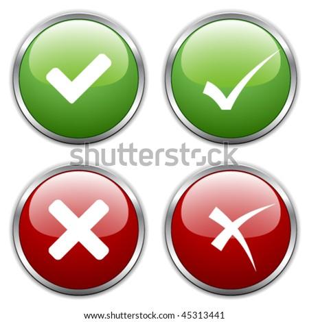 vector check mark buttons