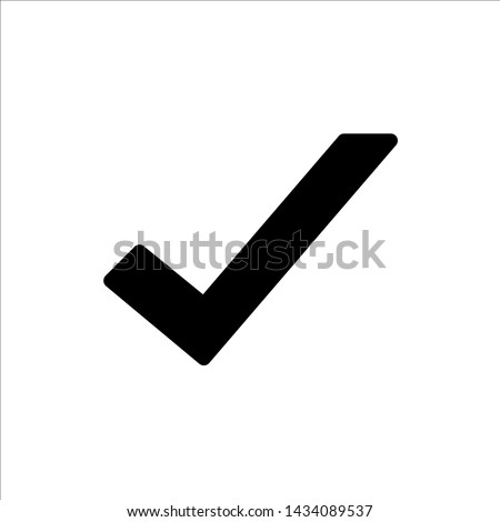 Vector check mark icon. symbol of check list, approval, or confirm with trendy flat style icon for web site design, logo, app, UI isolated on white background
