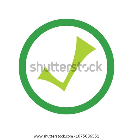 vector Check mark symbol - yes or ok - approved sign, vote checklist