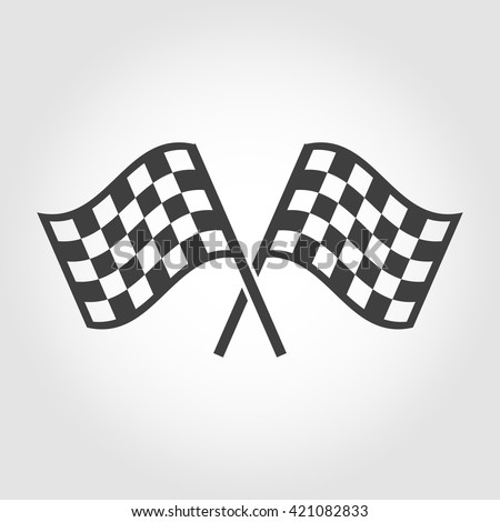 stock-vector-vector-checkered-flags-icons-set-on-grey-background-crossed-black-and-white-checkered-flags