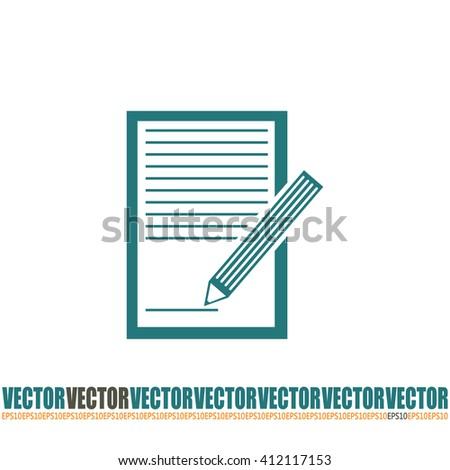 Vector checklist icon #412117153