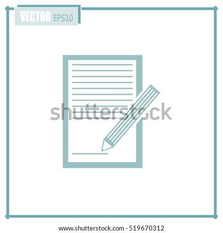 Vector checklist icon #519670312