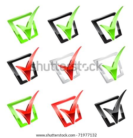 Vector checkmark set