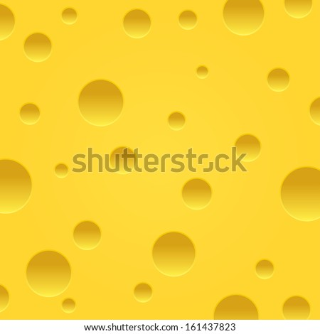 Vector cheese background. Piece of cheese. Slice of cheese.