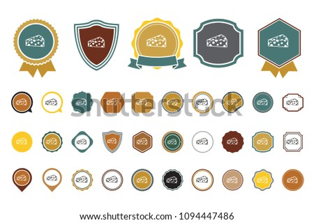 vector cheese  icon - Shutterstock ID 1094447486