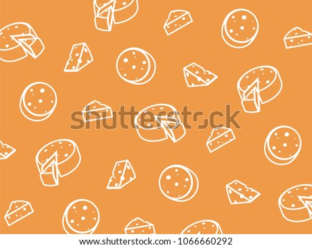 Vector cheese pattern.