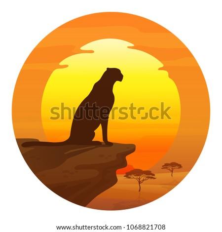 vector cheetah silhouette