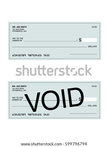 vector cheque and void cheque