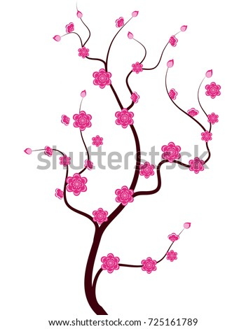 vector cherry blossom for
