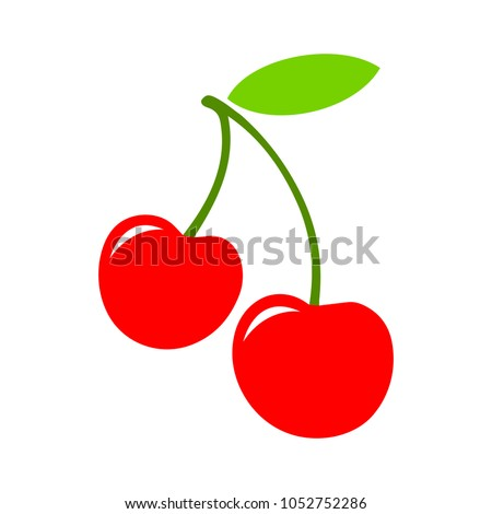 vector cherry - fresh fruit, natural berry