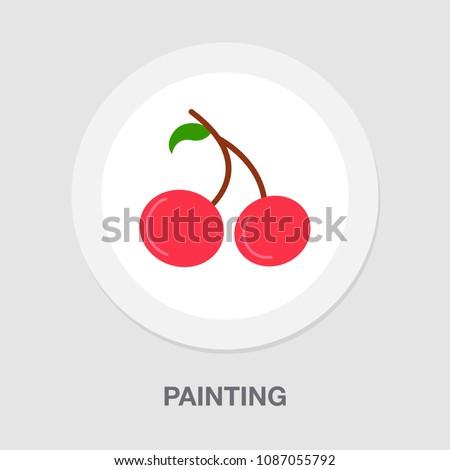 vector cherry - fresh fruit, natural berry