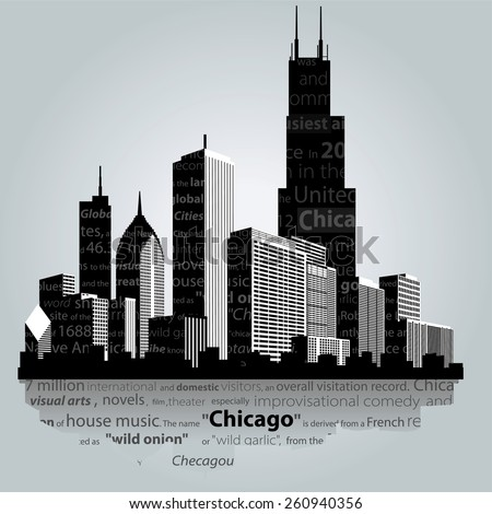 Vector. Chicago city silhouette.