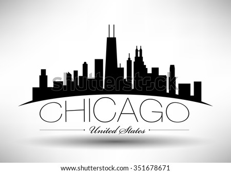 vector chicago skyline design