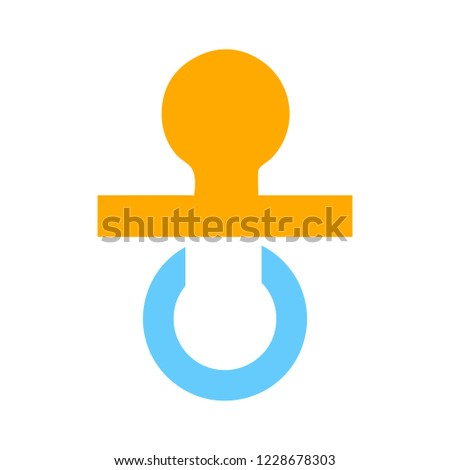vector Child pacifier illustration - baby child symbol - sleep toy sign