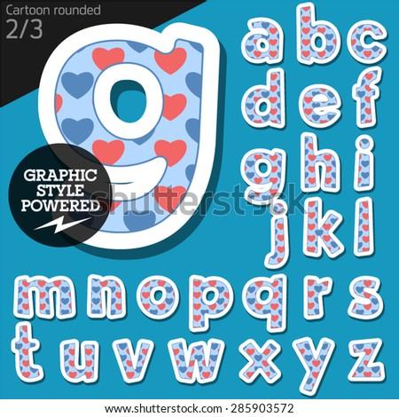 vector children alphabet set in